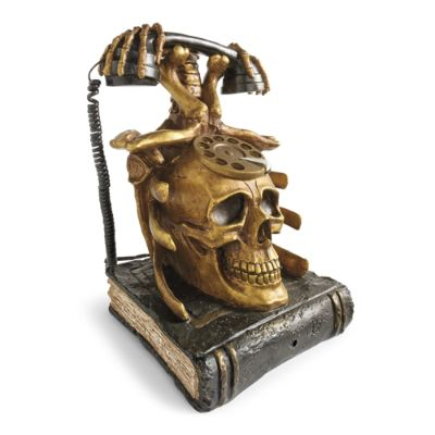 Halloween Animated Skeleton Telephone