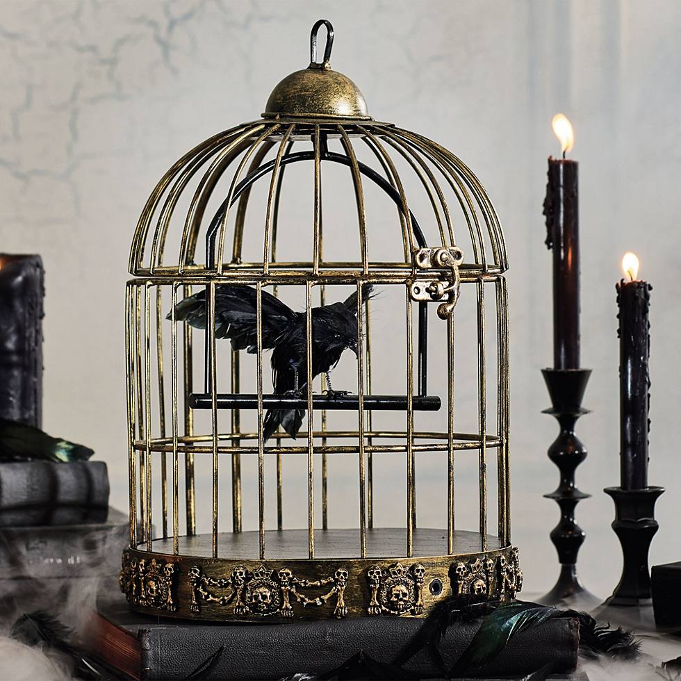 Animated Deluxe Bird Cage