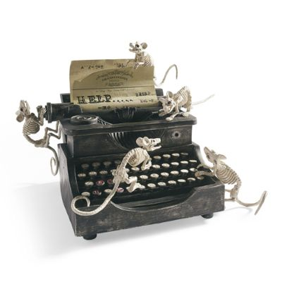 Halloween Animated Haunted Typewriter