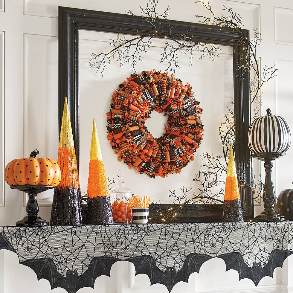 How to Decorate a Magical Halloween Mantel for Less - Grandin Road