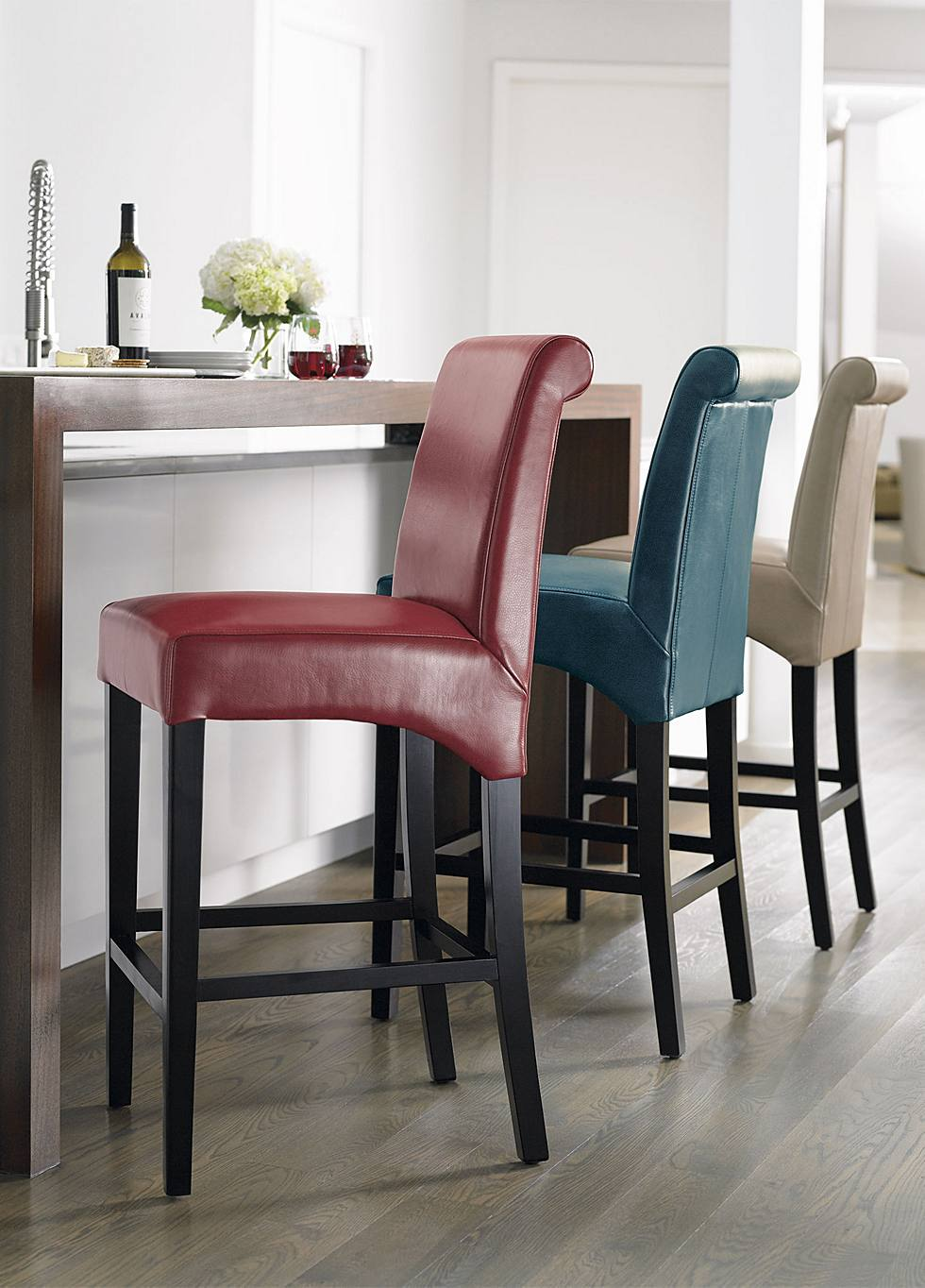Fine Blend Valencia Combines Parsons Chair Style And Rich Color With Espresso Legs