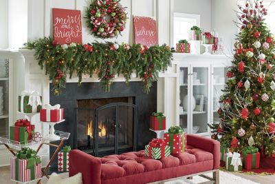 How To Decorate A Christmas Mantel Updated Traditional Grandin Road Blog