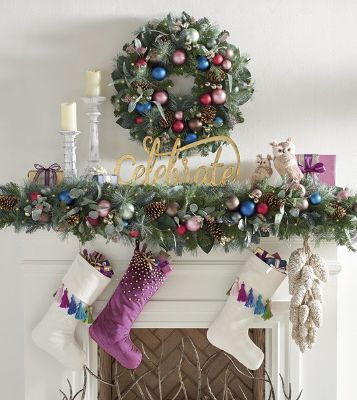 Mantle Decorations Christmas: How To Decorate A Christmas Mantel: Unexpected & Bright