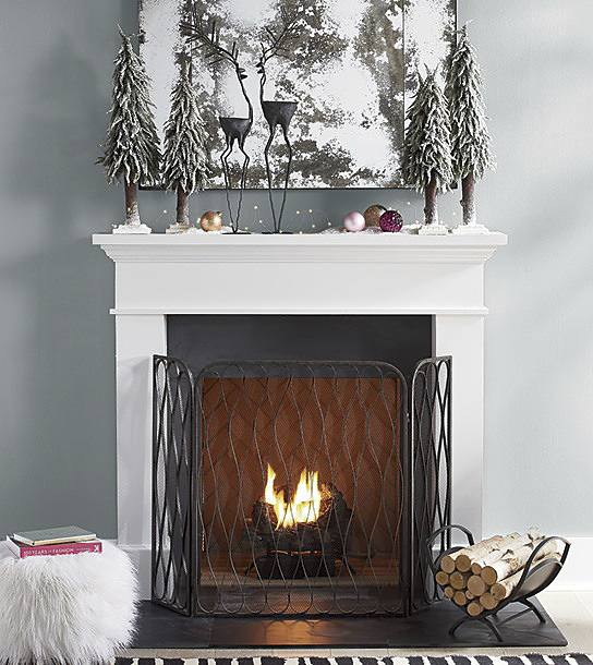 scandinavian winter holiday hearth ideas