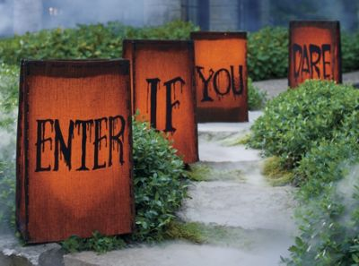 Enter If You Dare Halloween Luminaries