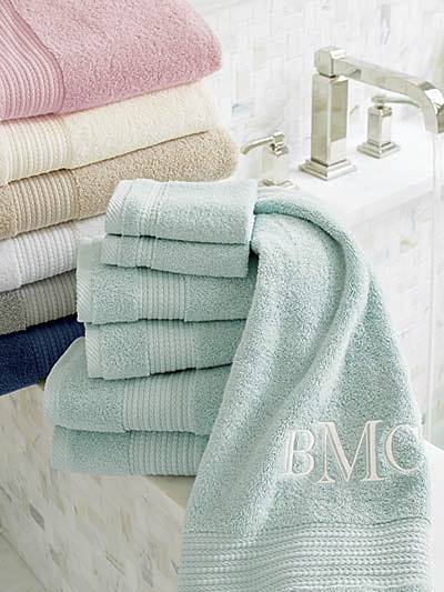 set of towels for guests