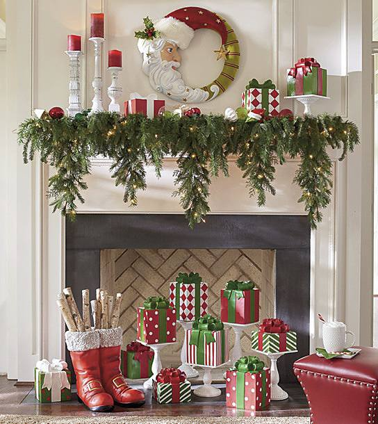 Now, a few more Updated Traditional Christmas Mantel Ideas. - How To Decorate A Christmas Mantel: Updated Traditional - Grandin
