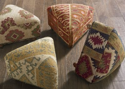 Great Footstool Kilim Idea