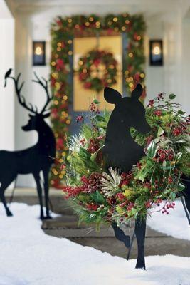 Outdoor Christmas Porch Sign Decorations Life Size-Nutcracker Front Door Decor