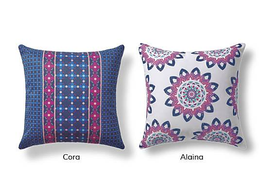 Cora and Alaina Outdoor Pillows