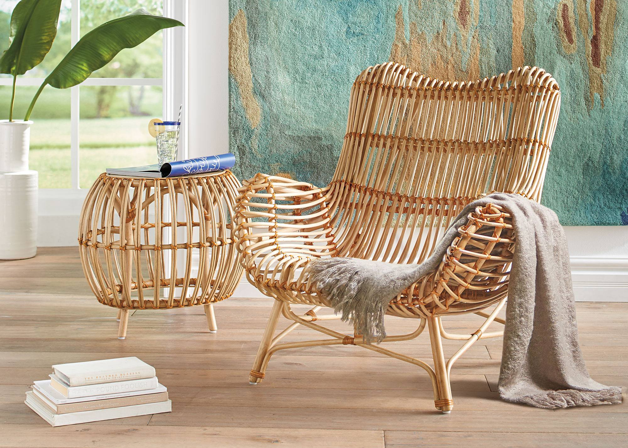 All of elements of the Kubu and Paloma are hand selected from raw  materials  hand prepped  and hand woven  Our product manager watched as  pieces of rattan. Indoor Rattan Furniture  A Natural Art Form   Grandin Road Blog