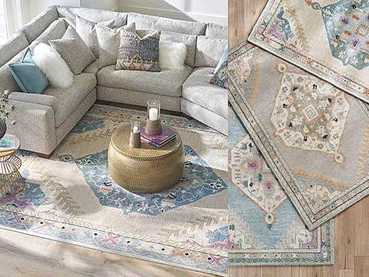 transitional rug ideas with center medallion