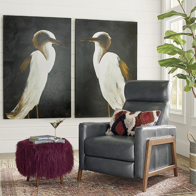 White Heron Wall Art Grandin Road