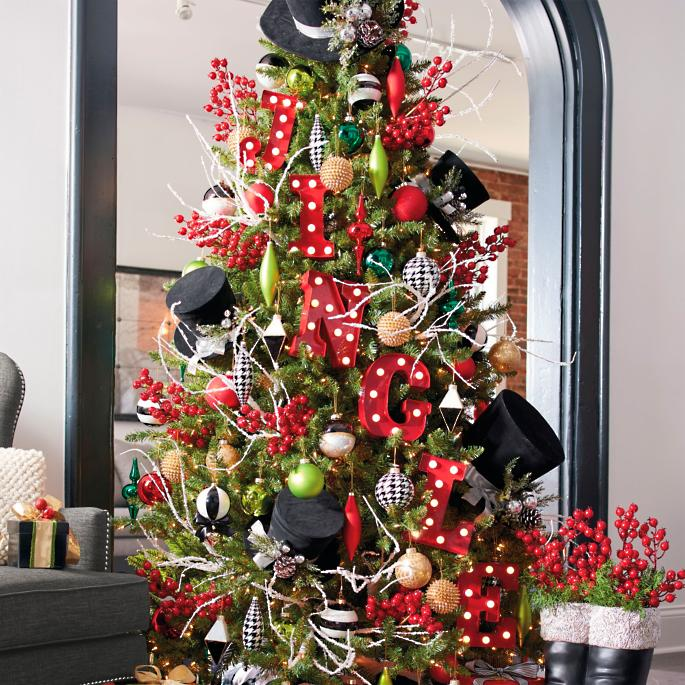 city lights designer trim kits - Designer Christmas Tree
