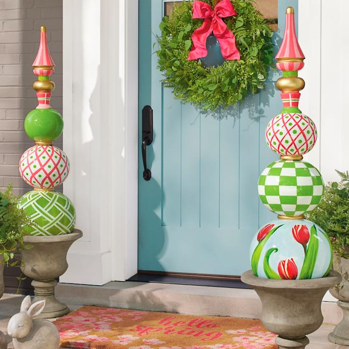 18 Spring Decor Ideas: Spring Topiaries
