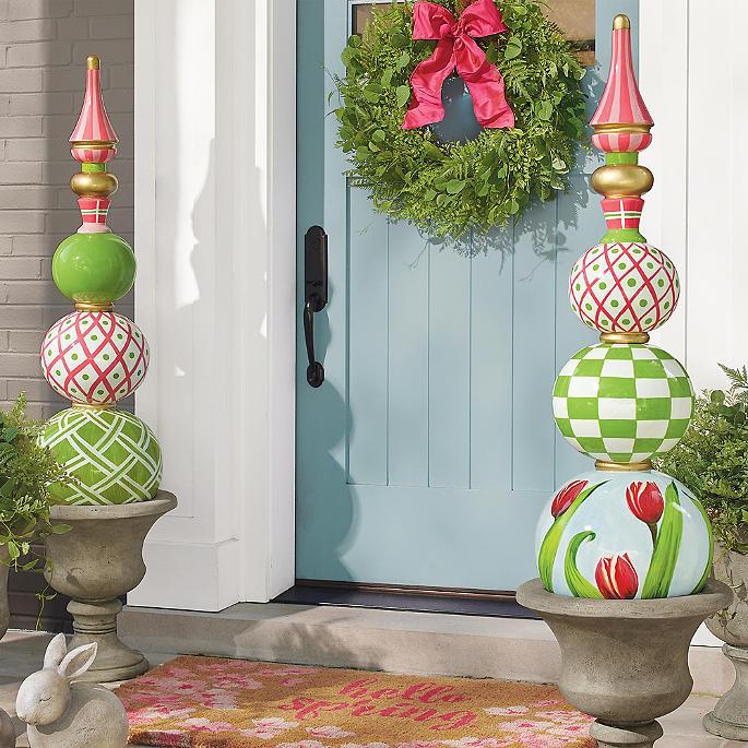 Spring Decorating: Spring Topiaries