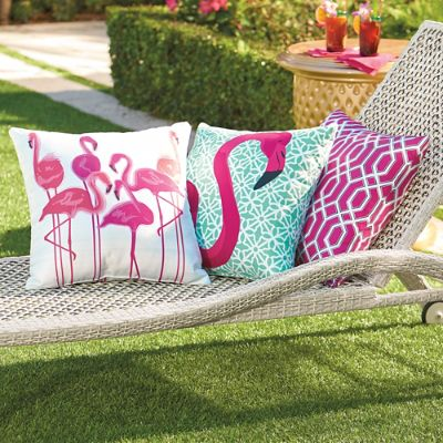 Pretty In Pink Outdoor Pillow Collection Grandin Road
