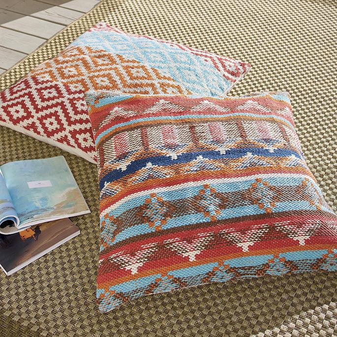 Spicewood & Lockhart Outdoor Floor Pillows | Grandin Road