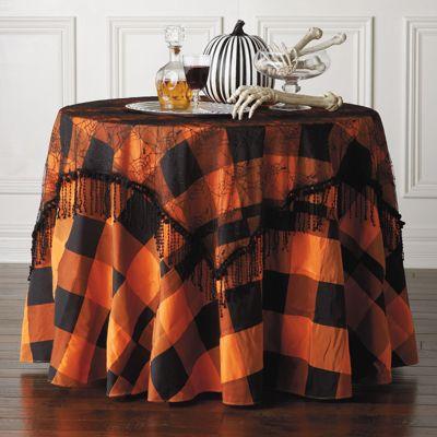 Halloween Table Linens Grandin Road