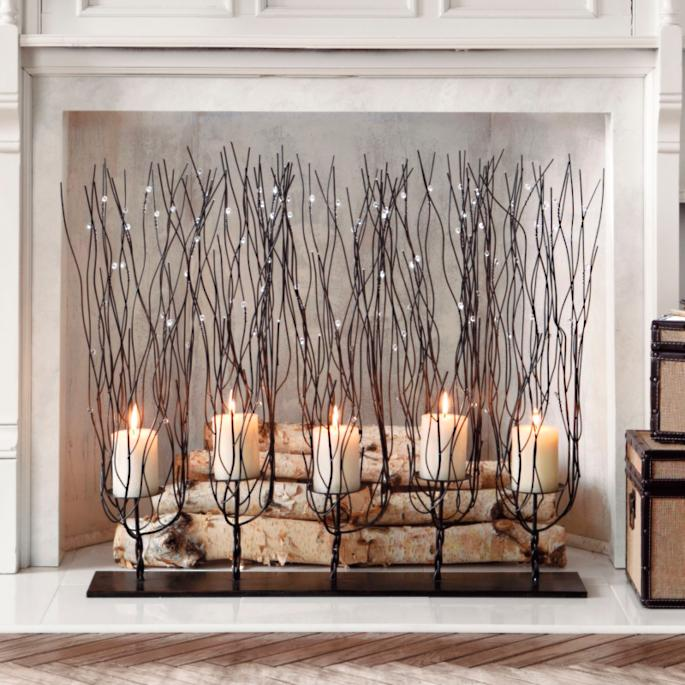 Add drama on a grand scale to a mantel or tabletop with our Fedora Candleholder. Flickering candlelight alone is captivating