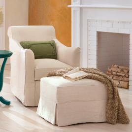 Alexandria Sleeper Chair Amp Ottoman Grandin Road