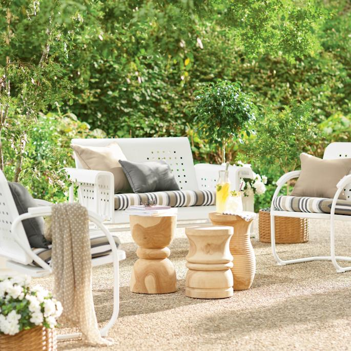 get designer decorating ideas watch our outdoor decorating rh grandinroad com retro outdoor furniture for sale retro outdoor furniture melbourne