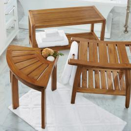 Teak Shower Bench | Grandin Road