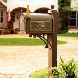 Seranto Monogrammed Mailbox Post