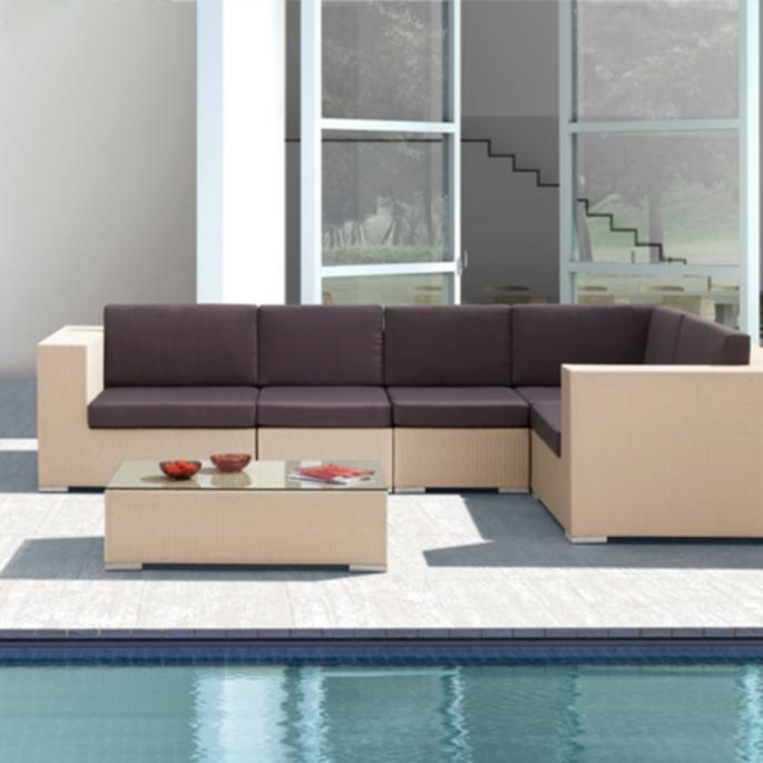 Center Chair with Cushions - Cartagena Outdoor Furniture Collection Grandin Road